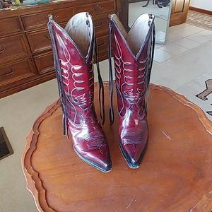 Chaparral patent leather cowboy boots